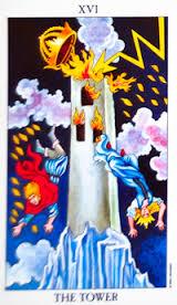 The Tower #16 tarot reading interpretation