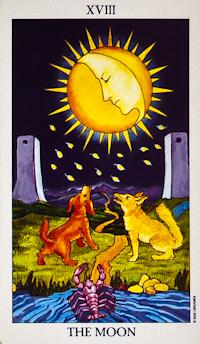 The Moon # 18 Tarot